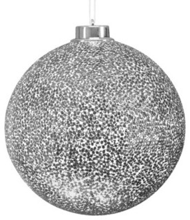 Philips 30-Light Silver LED Twinkling Hanging Ornament - Contemporary - Christmas Ornaments - by ...