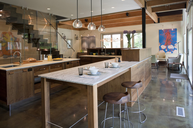 House in Wilton contemporary-kitchen