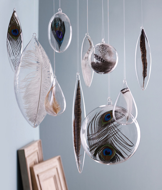 Floating Feather Ornaments by Roost christmas-ornaments
