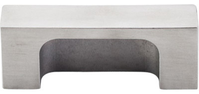 "Modern Metro Tab Pull 2"" (c-c) - Brushed Stainless Steel modern-cabinet-and-drawer-handle-pulls"