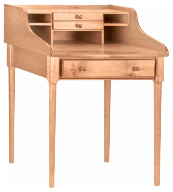 Office Desks Country Solid Pine Bradford Office Desk 30 39 39 W 100913 Traditional Desks And