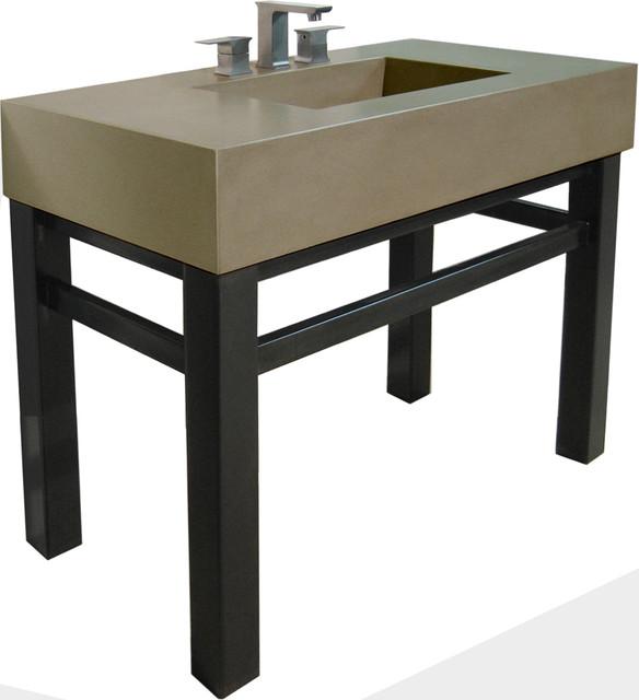Bathroom Sink Base : Concrete Sink & Steel Base - Contemporary - Bathroom Sinks - new york ...
