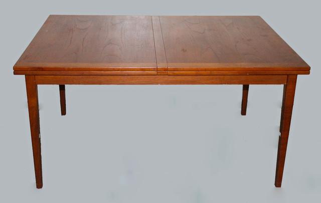 danish modern mid century modern teak expandable dining table. Black Bedroom Furniture Sets. Home Design Ideas