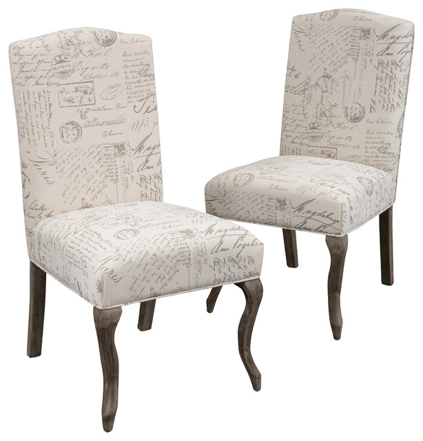 fabric dining chairs set of 2 contemporary dining chairs by