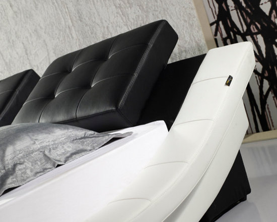 Leather Bed - Italian Leather - HX-A021-BW -