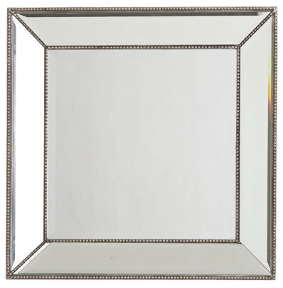Beaded Frame Mirror Square Traditional Floor Mirrors