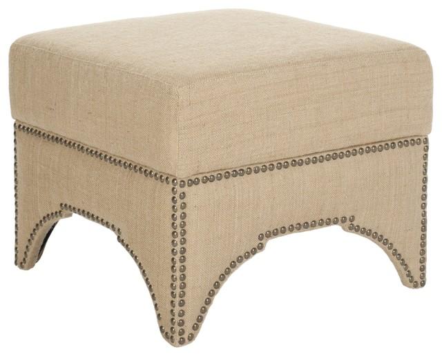 Safavieh Sahara Beige Square Storage Ottoman contemporary-footstools ...