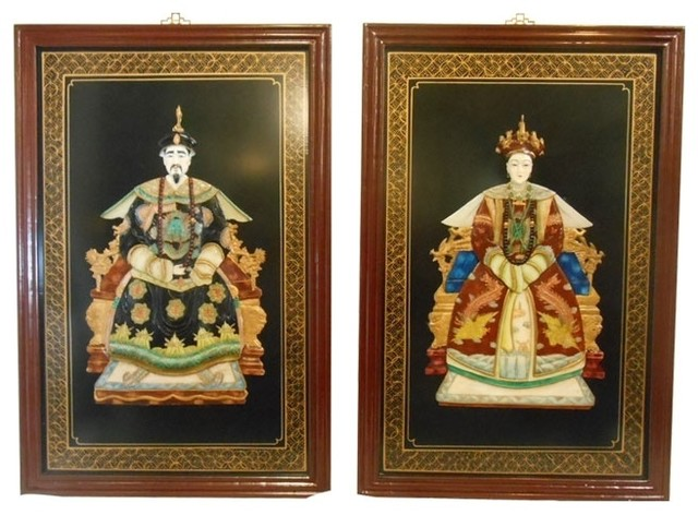 Oriental ancestor wall panels by oriental furnishings for Asian wall art