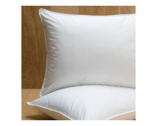 Grandin Road - PrimaLoft Down Alternative Pillow - Easy-care PrimaLoft down bed pillow. Filled with specially engineered luxury micro fiber that offers the comfort of natural down. Covered in crisp, breathable, 230-thread-count white cambric cotton. Provides medium-density support that's ideal for back and side sleepers. Machine washable and dryable, for years of comfort. Even if you're an allergy-sensitive sleeper, you can drift away soundly and wake refreshed with the down-like experience you'll have with the PrimaLoft down alternative bed pillow. Breathable, 230-thread-count cambric cotton fabric encases medium density, specially engineered luxury down alternative fibers that mimic high-quality down, for an exceptionally restful night's sleep.. . . . . Tip: at least once a month, toss your PrimaLoft pillow into the dryer for 10 minutes for a good fluffing.