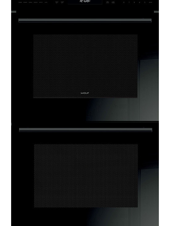 """Wolf 30"""" E Series Contemporary Built-In Double Oven Black 