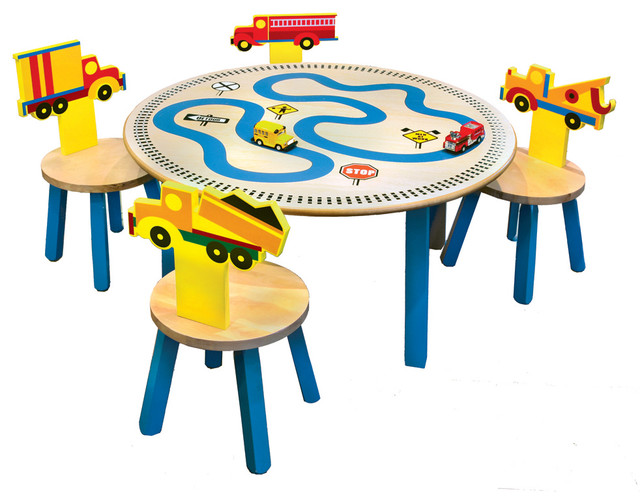trucks table 4 chairs set contemporary kids tables and