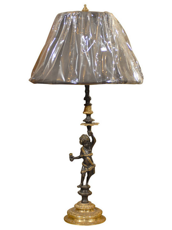 Current Inventory for Purchase - 19th C. Bronze Cupid Lamp