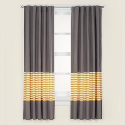 Kids grey amp yellow curtain panels modern kids decor by the land