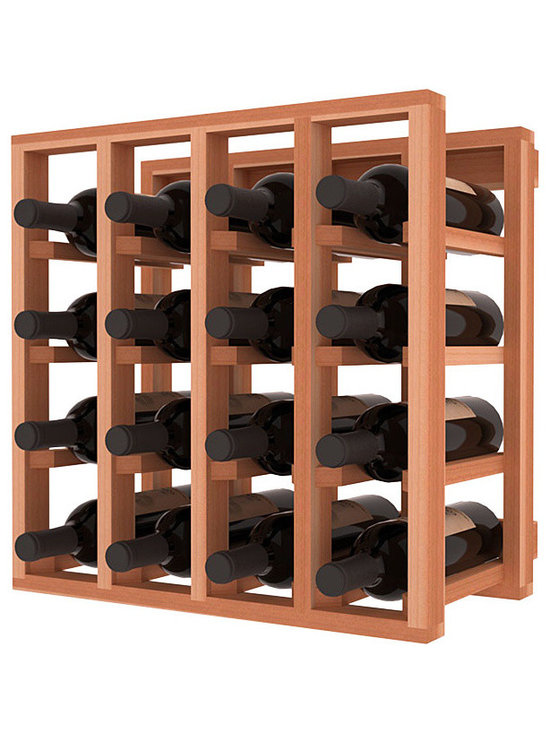 Lattice Stacking Wine Cubicle in Redwood - Designed to stack one on top of the other for space-saving wine storage our stacking cubes are ideal for an expanding collection. Use as a stand alone rack in your kitchen or living space or pair with the 20 Bottle X-Cube Wine Rack and/or the Stemware Rack Cube for flexible storage.