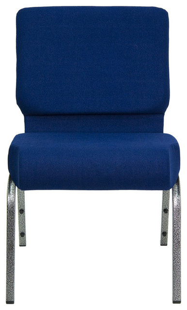 """Hercules 21"""" Extra Wide Navy Blue Stacking Church Chair - Silver Vein Frame contemporary-office-chairs"""