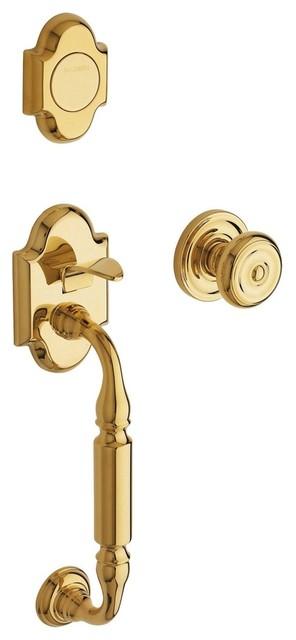 Canterbury Full Inactive Entry Handleset w In traditional-door-hardware