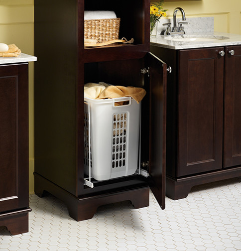 Laundry Hamper Pull Out - Bathroom Vanities And Sink ...