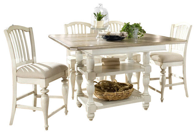 coventry two tone dining table in dover white traditional dining