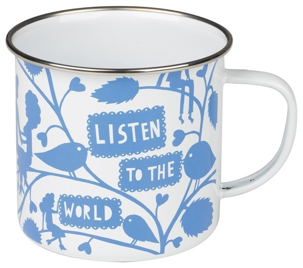 Rob Ryan Enamel Mug contemporary dinnerware