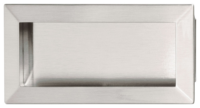 Hafele 151.67.602 Brushed Nickel Flush Pulls traditional-cabinet-and-drawer-handle-pulls
