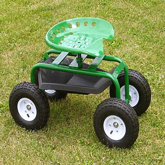 Garden Caddy On Wheels : Handy garden caddy tractor seat on wheels contemporary