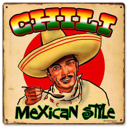 Chili Mexican Vintage Metal Sign modern-home-decor