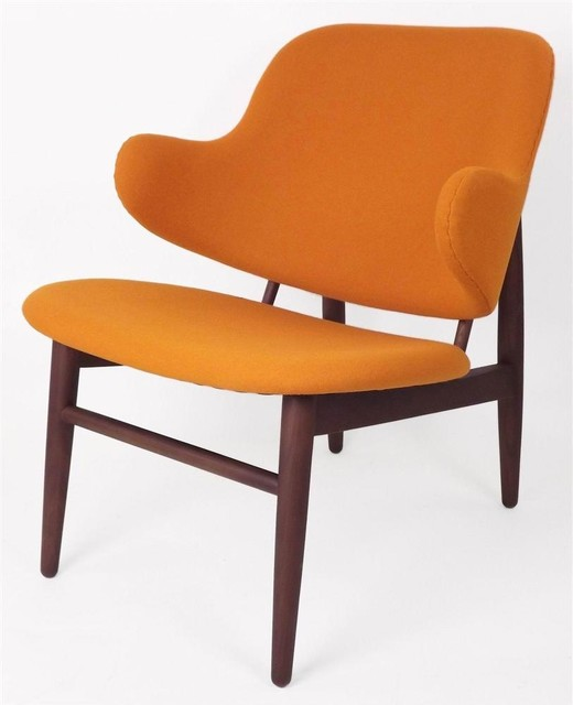 Cosgrove Upholstered Lounge Chair Orange Contemporary Armchairs And Acc
