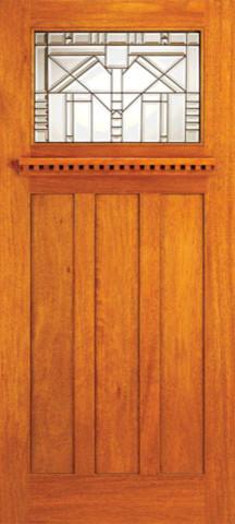 Mahogany craftsman style entry doors for arts and crafts for Arts and crafts style front door