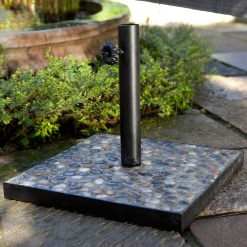 30 lb. Pebble Mosaic Patio Umbrella Stand - contemporary - coat ...