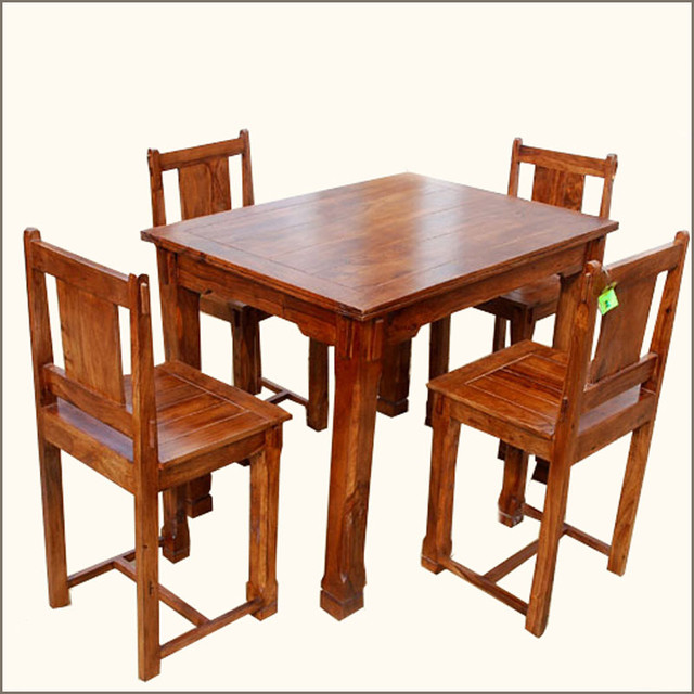 Santa Cruz Mission 5pc Counter Height Dining Table and  : traditional from www.houzz.com size 640 x 640 jpeg 97kB