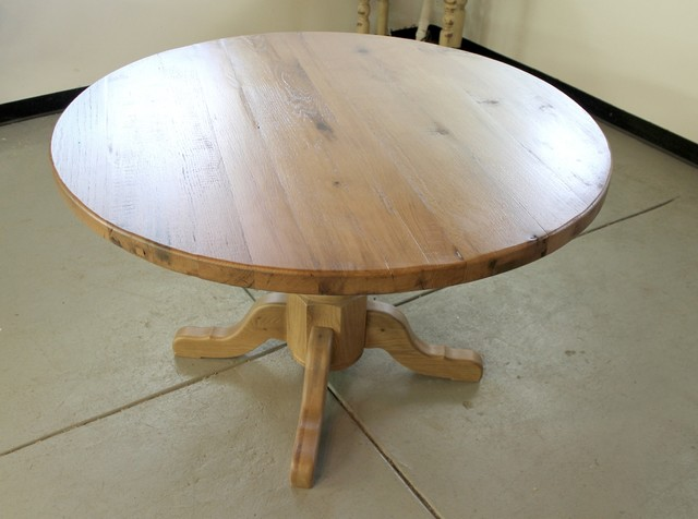 48 Round Oak Farm Table Farmhouse Dining Tables Boston By