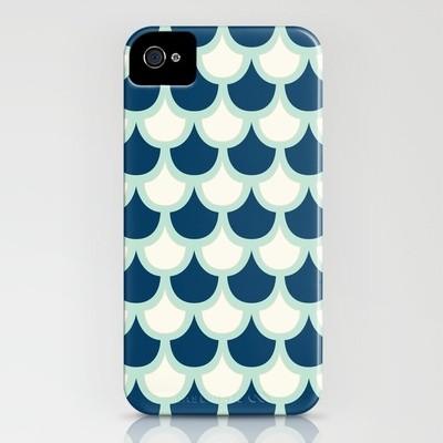 Scallop Pattern iPhone Case by Krysti Kalkman modern