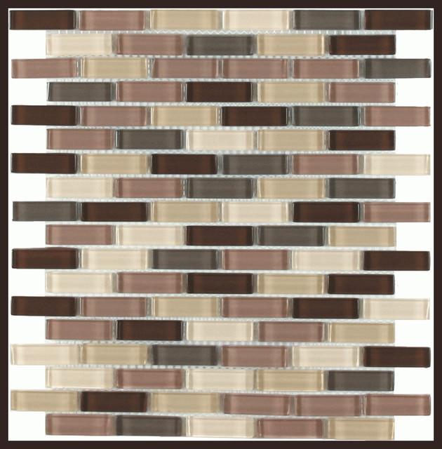 Maniscalco Simpspn Desert, Simpson Blend mini-subway glass tile traditional-tile