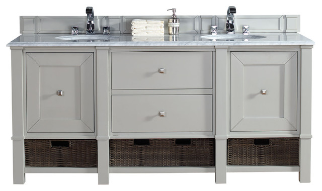 james martin madison 72 double vanity cabinet dove gray