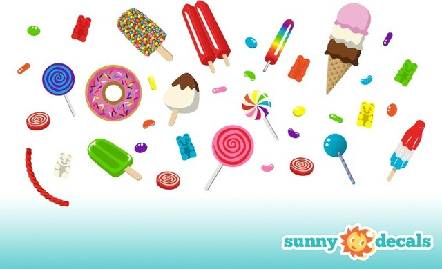Candy wall decals contemporary wall decals by for Candy wall mural