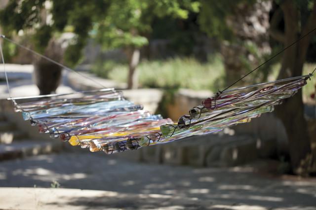 Mdina Glass Hammock contemporary-garden-statues-and-yard-art
