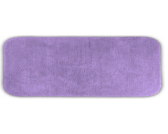 "Sands Rug - Cheltenham Purple Washable Runner Bath Rug (1'10"" x 5') - Add a layer of plush comfort and safety with the inviting Cheltenham bath and spa rug collection. Each piece, whether a bath runner, bath mat or contoured rug, is created from soft, durable, machine-washable nylon. Each floor piece is backed with skid-resistant latex for safety."