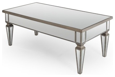 Yves Mirrored Coffee Table Contemporary Coffee Tables