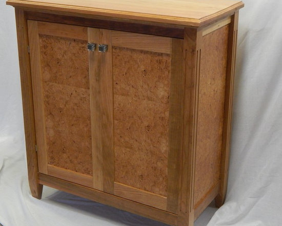 burl and cherry cabinet -