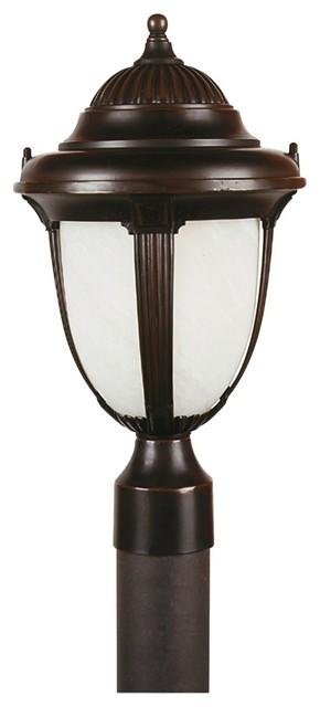 "Traditional Casa Sorrento Bronze 20 3/4"" High LED Outdoor Post Light traditional-outdoor-lighting"