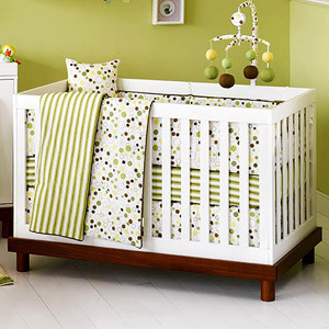 Olivia 3-in-1 Baby Crib, Amber and White - Modern - Cribs - by Walmart