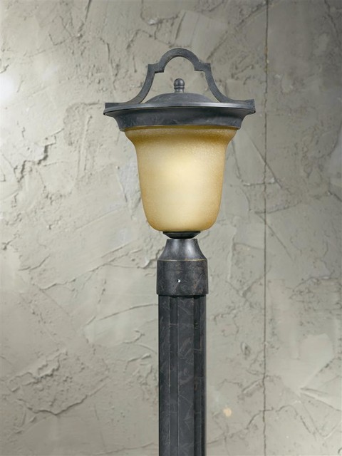 Outdoor Post Head In Hand Painted English Bronze Finish Traditional Light Bulbs By Ivgstores