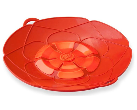"""Kuhn Rikon - Kuhn Rikon Spill Stopper Over Boil Protector 10"""" Red - Sick of pot watching? The Kuhn Rikon Spill Stop prevents pasta, soups and other dishes from boiling over. This heavy silicone Spill Stop in Red traps excess foam and liquid so it doesn't spill all over your stove. Set your timer, cover pot with Spill Stop and go blissfully about your business. Also know as Kochblume which translates to Cooking Flower in German. Spill Stop"""
