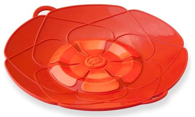 """Kuhn Rikon Spill Stopper Over Boil Protector 10"""" Red modern-splatter-screens"""