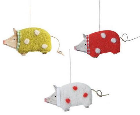 Three Little Pigs Ornaments farmhouse