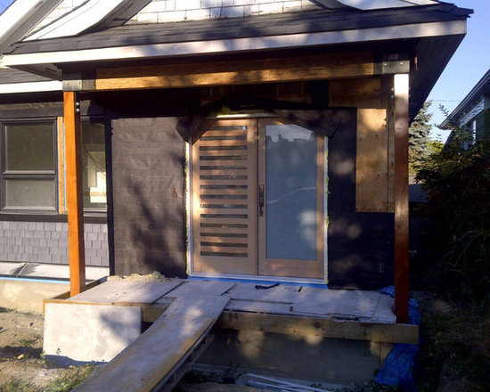 Doorex Built - Paint Grade Modern Front Entry - Doorex built paint grade solid modern front entry (full lite french with striplite)