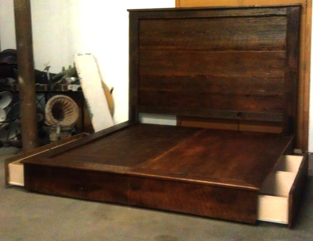 RECLAIMED BARN WOOD BEDS, HEADBOARDS & PLATFORM BEDS - Contemporary ...