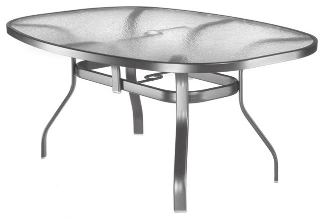 Homecrest Glass Top 43 x 78 in Oval Patio Dining Table 03 Contem