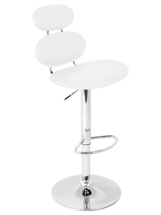Segment Bar Stool - WHITE
