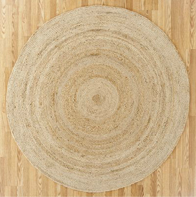 Round Natural Jute Circular Rug Contemporary Rugs By